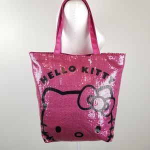 Hello Kitty Pink One Side Full Sequin Tote